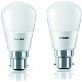 4W LED Bulb(White, Pack of 2)