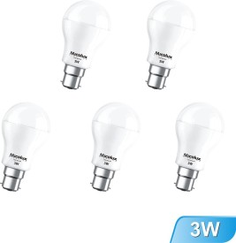 3W B22 White Led Bulb (Set Of 5)