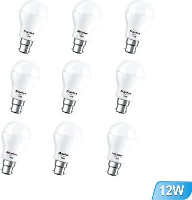 12W B22 White Led Bulb (Set Of 9)
