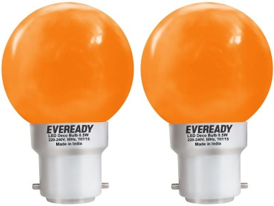0.5W Deco UP LED Bulb (Orange, Pack of 2)