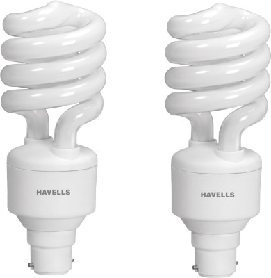 Spiral Shape T3 B-22 20W CFL Bulb (Cool Day Light, Pack of 2)