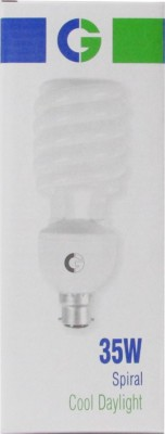 Greaves 35 W Spiral CFL Bulb (Cool Daylight, Pack of 2)