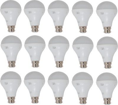 24W LED Bulb (White, Pack of 15)
