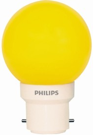 0.5 W LED Bulb (Yellow, Pack of 5)