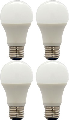 8W E27 LED Bulb (White, Set Of 4)