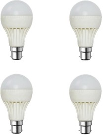 12W-Plastic-Body-White-LED-Bulb-(Pack-Of-4)