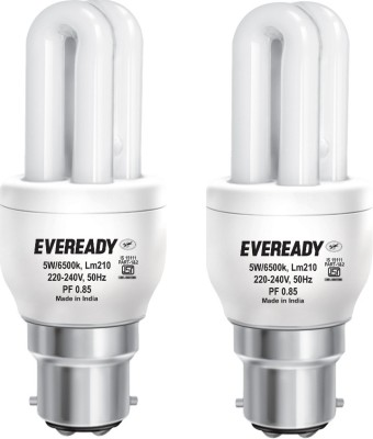 Mini 5 W CFL Bulb (Pack of 2, Free 4AA Batteries)