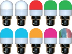 0.5W LED Bulbs (Pack of 10) (Multicolor: White, Red, Green, Blue, Yellow, Pink)