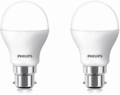 2.7 W LED cool daylight Bulb B22 White (pack of 2)