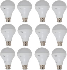 15W White LED Bulbs (Pack Of 12)