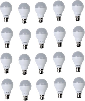 9 Watt LED Bulb (White, Pack of 20)