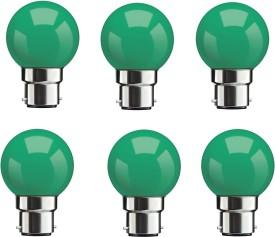 0.5W Green LED Bulbs (Pack Of 6)