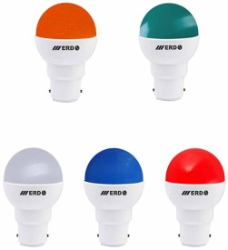 ERD 0.5 W LP-502 LED Spiral Bulb B22 Multicolor (pack of 5)