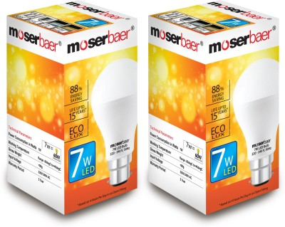 Moserbaer 7 W LED Ecolux 6500K Cool Day Light Bulb Image