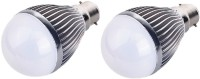 IPP 5 W LED (Set Of 2) B22 5 Watt Long Life - Full Aluminium Body - Superb Design B22 Bulb (White, Pack Of 2)
