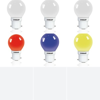 0.5W Multicolor Deco LED Bulb (Pack of 6)