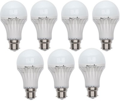 9W B22 LED Bulb (White, Set of 7)