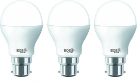 9W B22 LED Bulb (White, Set of 3)