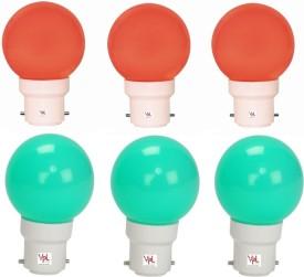 0.5W-LED-Light-Multicolour-(Pack-Of-6)