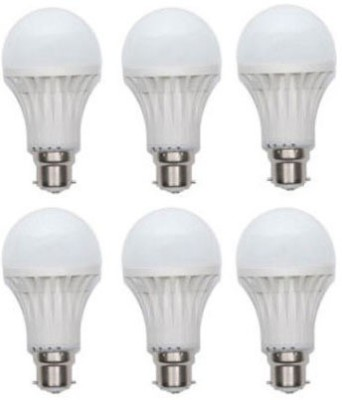7W Plastic 220 Lumens White LED Bulb (Pack Of 6)