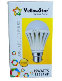 Yellowstar-12W-B22-LED-Bulb-(White,-Set-of-6)