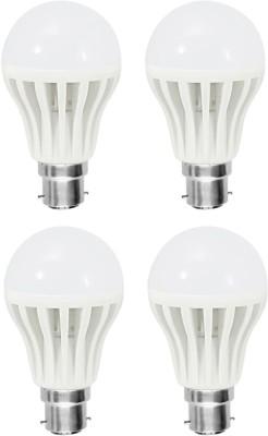 Gold-3-W-Plastic-Body-Warm-White-LED-Bulb-(Pack-Of-4)