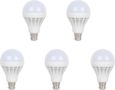 12W B22 LED Bulb (White, Set of 5)