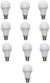 Ujjawal 9W Plastic White LED Bulb (Pack Of 10)