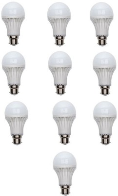 9W-Plastic-White-LED-Bulb-(Pack-Of-10)