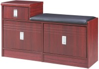 Pindia Multipurpose 3 Drawer Storage Unit Bench Engineered Wood Free Standing Cabinet (Finish Color - Walnut)