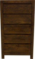 Woodpecker Gerogia Solid Wood Free Standing Chest Of Drawers (Finish Color - Walnut Colour)