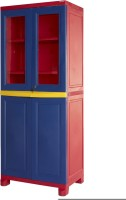 Nilkamal Solid Wood Free Standing Cabinet (Finish Color - Blue)