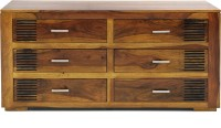 Evok Solid Wood Chest Of Drawers (Finish Color - Brown)
