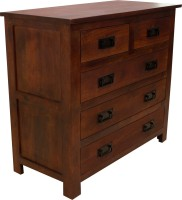 Woodpecker Hongkong Solid Wood Free Standing Chest Of Drawers (Finish Color - Red Mahogany Colour)