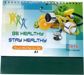 A1 Healthy(Pack Of 6) 2016 Table Calendar