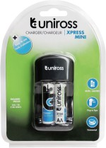 Uniross Rechargeable NiMh 2100 AA 2 Battery With Xpress Mini Charger