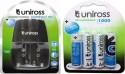 Uniross Compact 9V Battery Charger & 4U AA 1000 Series Rechargeable Battery  Camera Battery Charger (Black, Blue)
