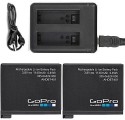 GOPRO 2 GoPro For HERO4 Black Silver + BC-GP4B USB Dual  Camera Battery Charger (Black)