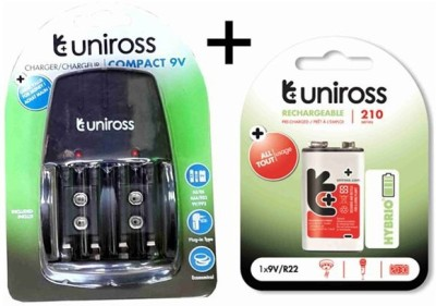 Uniross-Compact-9V-Battery-Charger-(with-9V/R22-Battery)