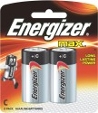 Energizer Max Alkaline Battery E93BP2 C Size - 2 Pack Camera_battery_charger