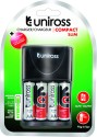 Uniross Rechargeable PreCharged 2100 AA 4 Battery With Slim Charger Camera_battery_charger