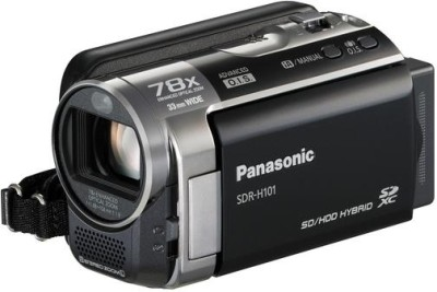 Panasonic SDR H101 Camcorder Camera Black available at Flipkart for Rs.17000