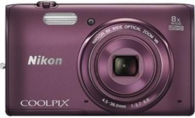 Nikon Coolpix S5300 Point & Shoot Camera(Plum)