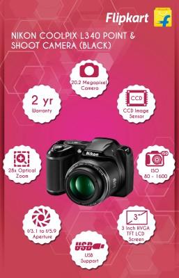 Nikon Coolpix L340 Point & Shoot Camera
