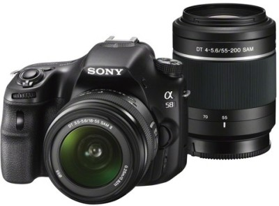 Sony Alpha SLT-A58Y (Body with DT 18 - 55 mm F3.5 - 5.6 SAM II and DT 55 - 200 mm F4 - 5.6 SAM) DSLR Camera