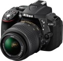 Nikon D5300 SLR - Black, With  AF-S 18 55 Mm VR Kit Lens