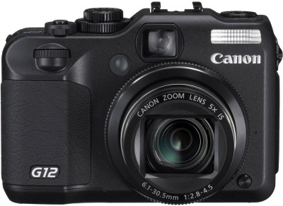 Canon PowerShot G12 Point & Shoot Camera Black available at Flipkart for Rs.24245