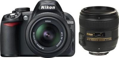 Nikon D3100 (with AF-S 18 - 55 Mm VR Kit + AF-S NIKKOR 50 Mm F/1.8G Le SLR - Black