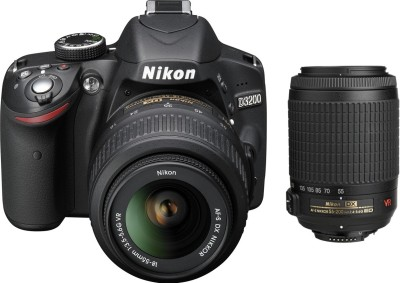 Nikon D3200 (with AF-S 18-55mm VRII + 55-200mm f/4-5.6G Lens Kit)
