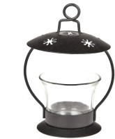 Toygully Iron 1 - Cup Tealight Holder (Black, Pack Of 1)